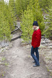 Girl on trail Stock Photo
