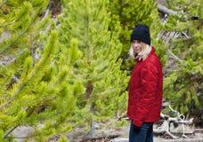 Girl on trail Stock Photos