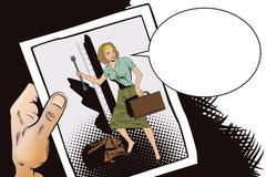 Girl in the train. Start travel. Bon Voyage. Stock Photos