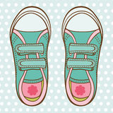 Girl trainers Stock Image