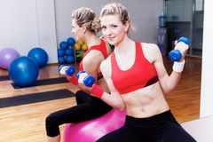 Girl on the training Stock Images