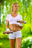 A girl training Royalty Free Stock Image