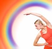 Girl training fitness Stock Photography