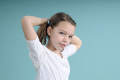 Girl training her body Royalty Free Stock Images