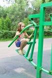 Girl training Stock Photo