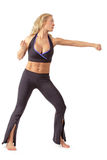 Girl training tae bo stock images