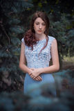 The girl in transparent dress Stock Photos