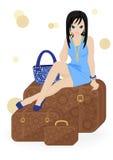 Girl traveler Royalty Free Stock Images