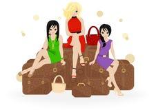 Girl traveler Royalty Free Stock Photo