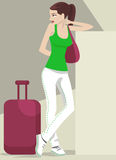 Girl traveling Stock Images