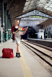 Girl traveling Royalty Free Stock Image