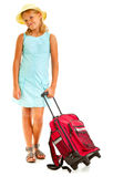 Girl travelling Stock Image