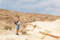 Girl travels Stock Photography