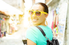 Girl travels Royalty Free Stock Photo