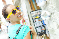 Girl travels Royalty Free Stock Photography