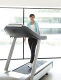 Girl treadmill stock photos