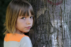 Girl and tree Stock Photography