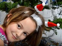 Girl with tree Stock Photography