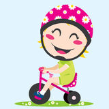 Girl Tricycle Stock Photography