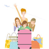Girl trip Stock Images