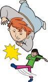 Girl Tripping Boy Stock Image
