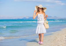 Girl on the tropical beach Stock Photography