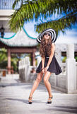 The girl in the tropics Stock Photo