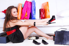 Free Girl Trying On Shoes Stock Photo - 19204300