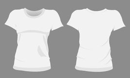 Girl tshirt. Illustration of a tshirt  on the grey background Royalty Free Stock Photo