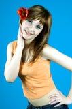 Girl with tulip Stock Photo