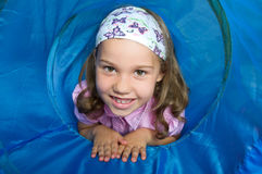 Girl in a tunnel Royalty Free Stock Photography