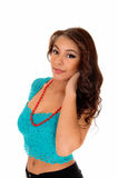 Girl in turquoise top. Stock Images