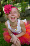 Girl in a tutu. Royalty Free Stock Photo