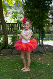 Girl in a tutu. Royalty Free Stock Image