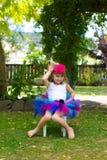 Girl in a tutu. Royalty Free Stock Photos