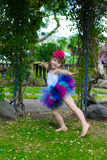 Girl in a tutu. Stock Images