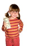 Girl and twenty bucks Royalty Free Stock Image