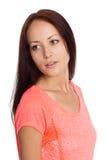 Girl of twenty-seven years of looking away Stock Image