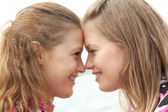 Girl twins Royalty Free Stock Photos