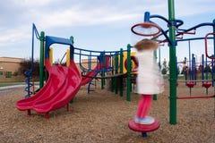 Twirly Girl at the Playground stock photo