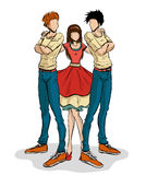 Girl and two boys Royalty Free Stock Image