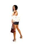 Girl with two handbag's. Stock Image