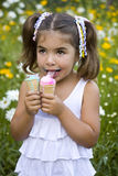 Girl with two ice cream Stock Photography