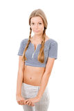Girl with two plaits Stock Photos