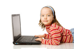 Girl typing message Royalty Free Stock Images