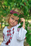 Girl in ukrainian costume Royalty Free Stock Photo