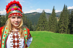 The girl in the Ukrainian costume Royalty Free Stock Image