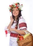 Girl in Ukrainian costume Royalty Free Stock Photo