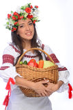 Girl in Ukrainian costume Royalty Free Stock Photography