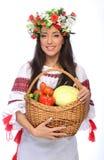 Girl in Ukrainian costume Royalty Free Stock Photos